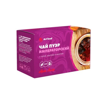 Чай «Императорский пуэр с чагой, шиитаке и маитаке», 20 пакетиков по 2 г