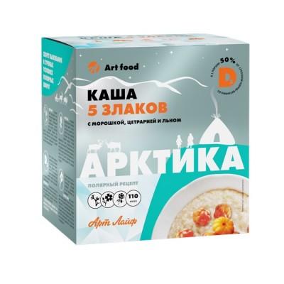 Каша 5 злаков Арктика с морошкой, цетрарией и льном, 10 порций по 30 г.
