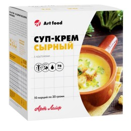 Суп-крем сырный с крутонами