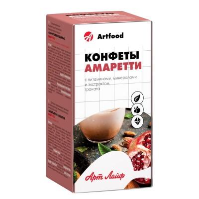 Конфеты обогащенные «Амаретти» с витаминами, минералами и экстрактом граната